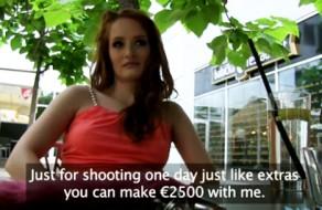 imagen Checa amateur folla por dinero en un parking