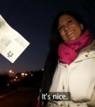 imagen Europea amateur follada por dinero en un baño publico