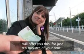 imagen Europea amateur follando en la calle por dinero