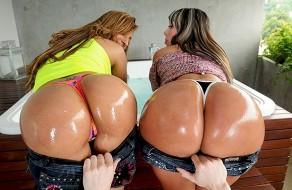 imagen Culonas latinas: trio de sexo en un jacuzzi