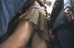 imagen Violacion real de una joven colegiala en el tren