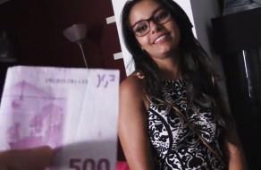 imagen Colombiana pillada en la calle folla por dinero