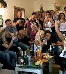 imagen Europeas borrachas en orgia de sexo amateur