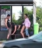 imagen Espectacular trio de sexo en sitios publicos