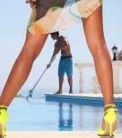 imagen Flamenca madurita se folla al chico de la piscina