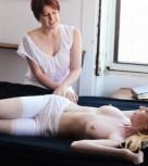 imagen Lesbianas tienen sexo recien despertadas