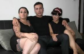 imagen Pareja amateur follando con amiga bisexual (español)