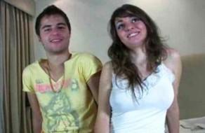 imagen Joven pareja española graba su primer video