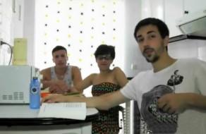 imagen Universitarios españoles en trio de sexo