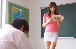 imagen Castigado despues de clase por la profesora más puta