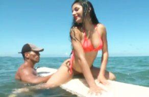 imagen Sexo en la playa con una colombiana
