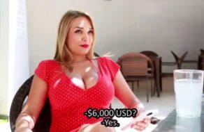 imagen Mujer brasileña se deja chupar las tetas por dinero