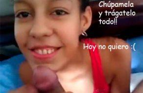 imagen Pendeja colombiana folla sin ganas con el novio