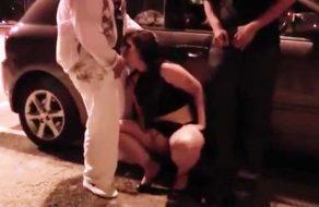imagen Española borracha follada en el aparcamiento