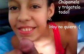 imagen Colombiana amateur cogiendo con viejo mini polla