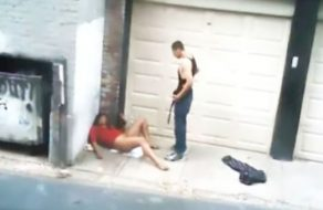 imagen Borracha violada en medio de la calle