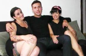 imagen Españolas bisexuales en un trio de sexo amateur