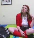 imagen Colegiala española tiene sexo anal por primera vez