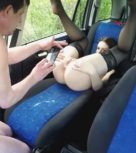 imagen Viejo taxista follando con una prostituta en el coche