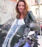 imagen Motera española pillada en la calle folla por dinero