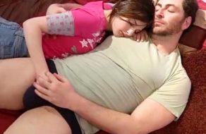 imagen Hija duerme con su padre borracho y pervertido (incesto)