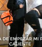 imagen Colombiana madurita se coje al repartidor de Uber Eat