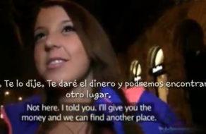 imagen Universitaria pillada en la calle folla por dinero (español)