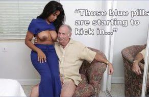 imagen Abuelos pagan a la zorra de su enfermera para que se los folle por turnos